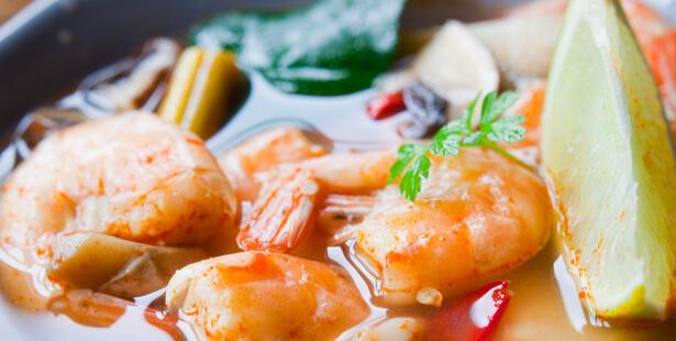 bouillon de crevettes