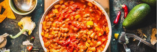 Recette: chili végétarien épicé et revigorant