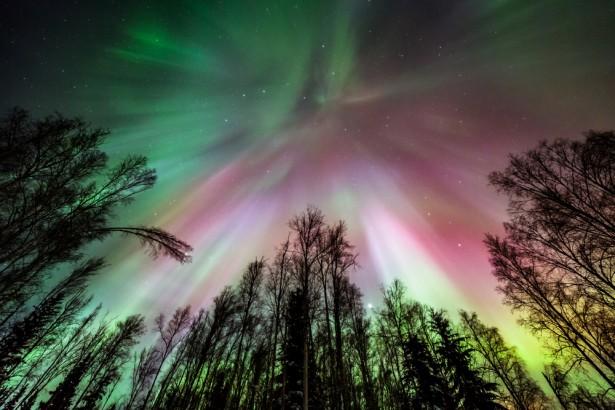 aurores boréales, Alaska