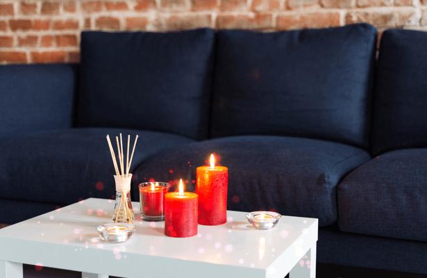 bougie et encens décoration