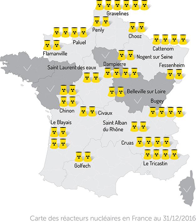 carte france centrales nucléaires
