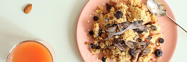 Crumble de granola aux anchois