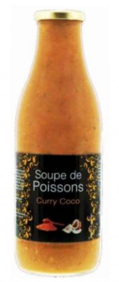 rappel produit, soupe de poissons curry coco Lidl