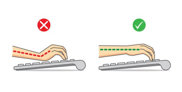 clavier position des mains