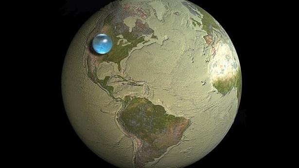 eau douce terre, combien d'eau