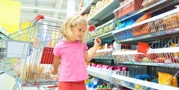 crise enfant supermarché
