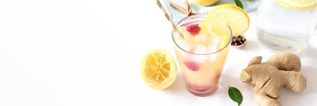 Citronnade au gingembre et clous de girofle