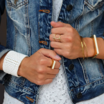 Bracelet manchette en perles par NATIFS