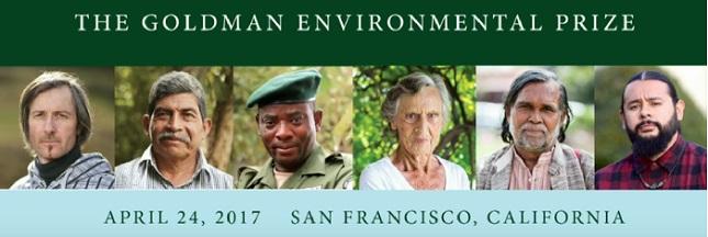 Prix Goldman 2017: découvrez les 6 Héros de l'Environnement