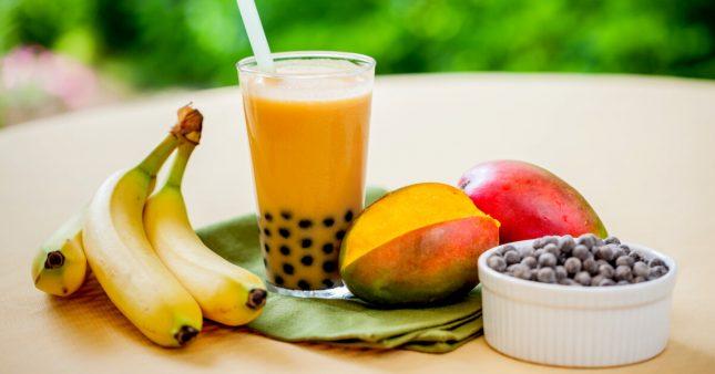 Recette bio: bubble tea maison aux fruits de saison, sans lait