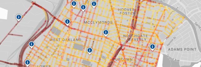 Google révèle sa première carte de la pollution de l'air, rue par rue