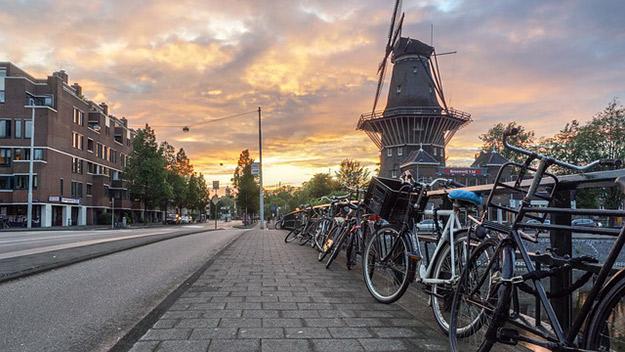 europe à vélo amsterdam