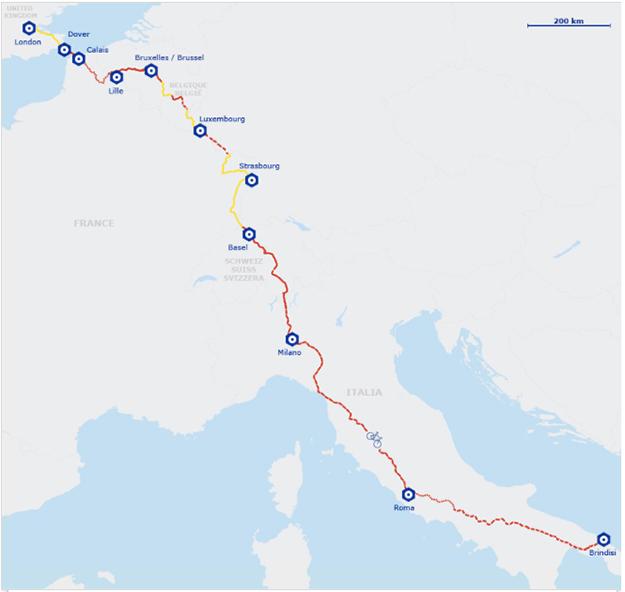 europe à vélo brindisi
