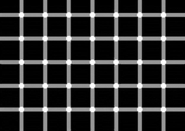 illusion optique points