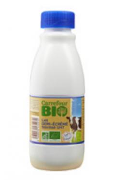 rappel produit, lait, carrefour bio
