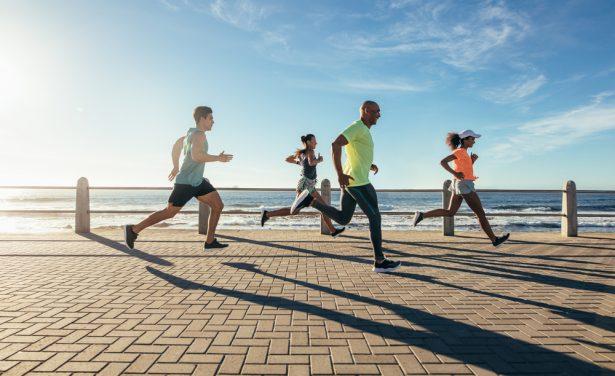 courir pieds nus, course à pied