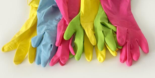 gants en caoutchouc