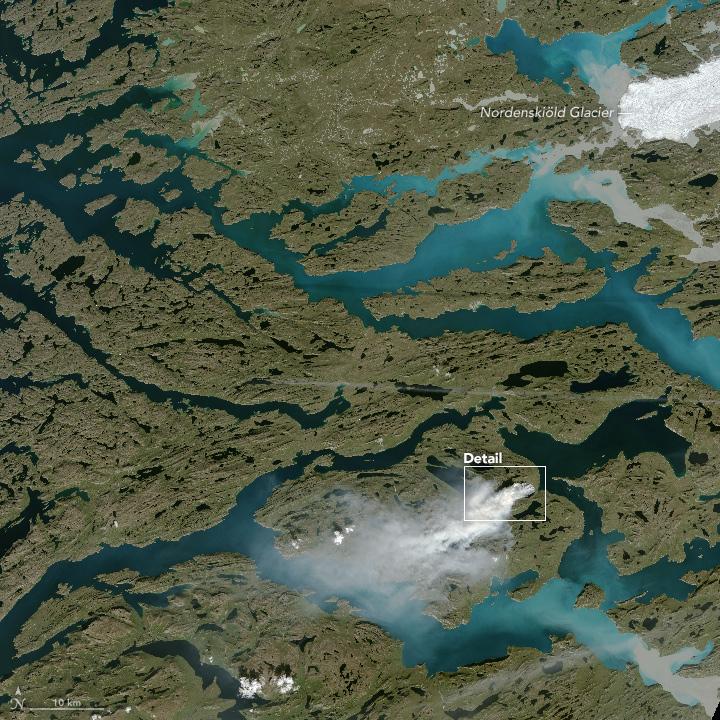 groenland feu