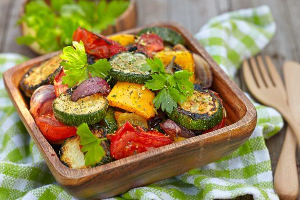 s'alimenter sainement, légumes cuisinés