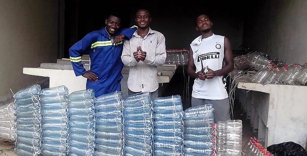 Collecte de bouteilles en plastique eu Cameroun