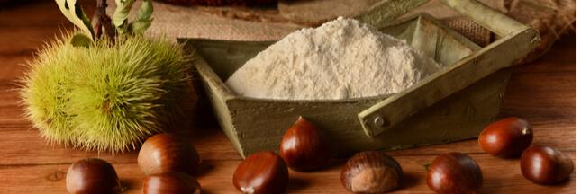 La farine de châtaignes, naturellement sucrée et sans gluten
