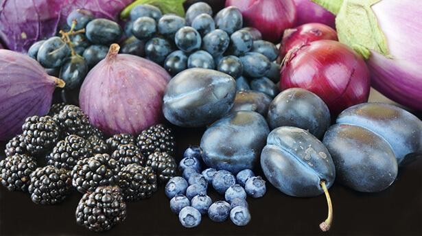 fruit et légume violet