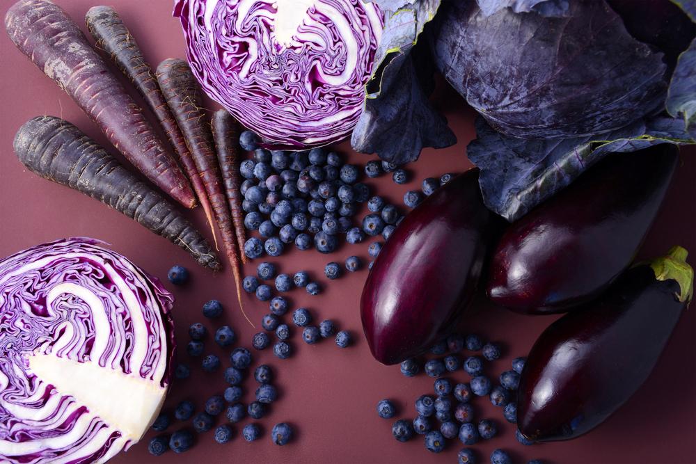 fruits violets, aliments violets