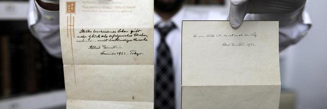 Des écrits d'Einstein font surface grâce à un coursier japonais !