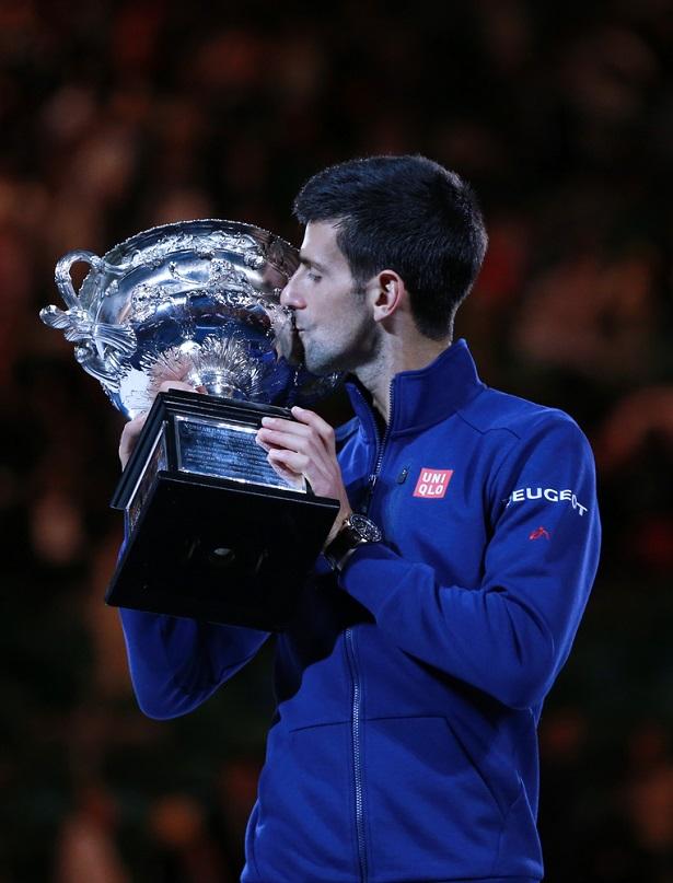 Novak Djokovic, gagnant de l'Australian Open 2016