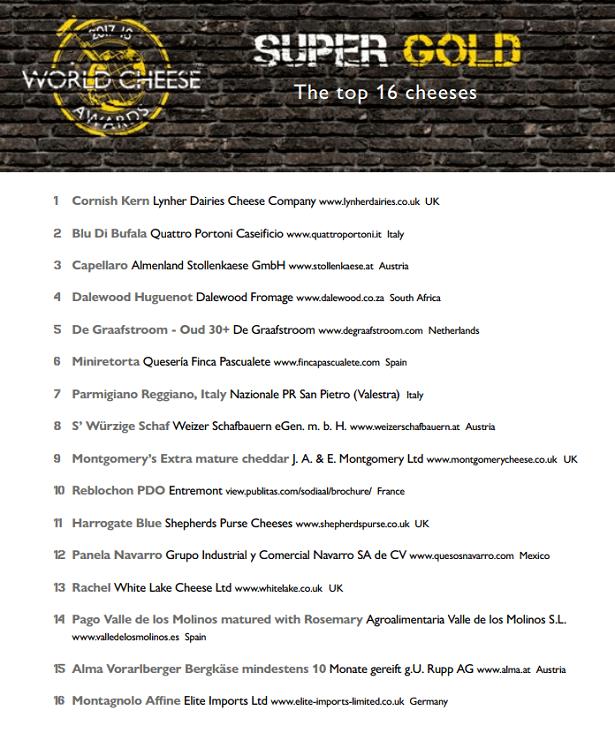 TOP 16 World Cheese Awards