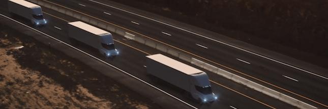 Elon Musk présente son nouveau camion électrique : le Tesla Semi