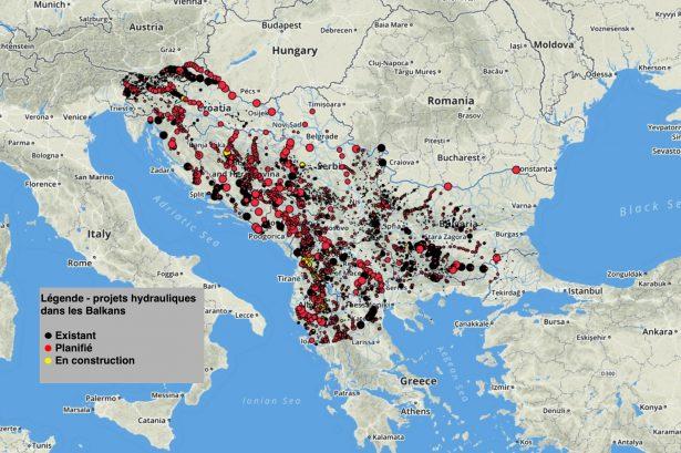 hydroliens dans les balkans
