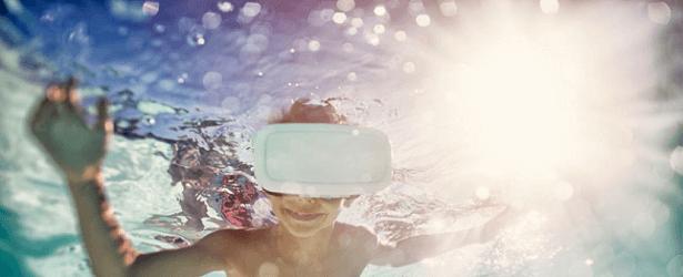 Thérapie nager dauphins réalité virtuelle