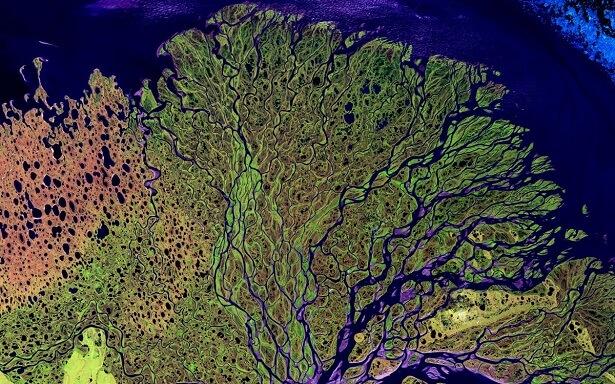 Photo lac Lena de la NASA