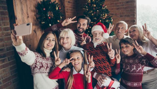 photo de famille Noël