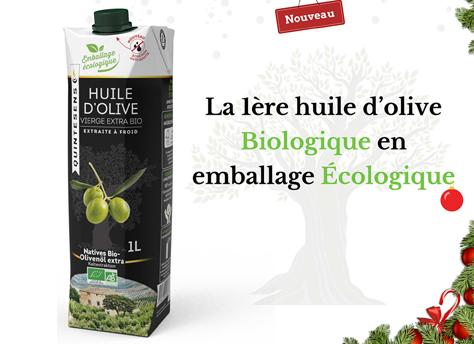 Huile d'olive vierge extra Bio en Tetra Prisma
