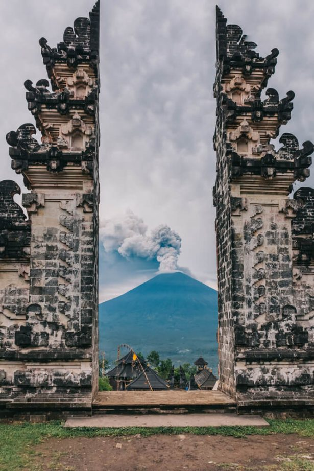 volcan Agung, éruption volcanique