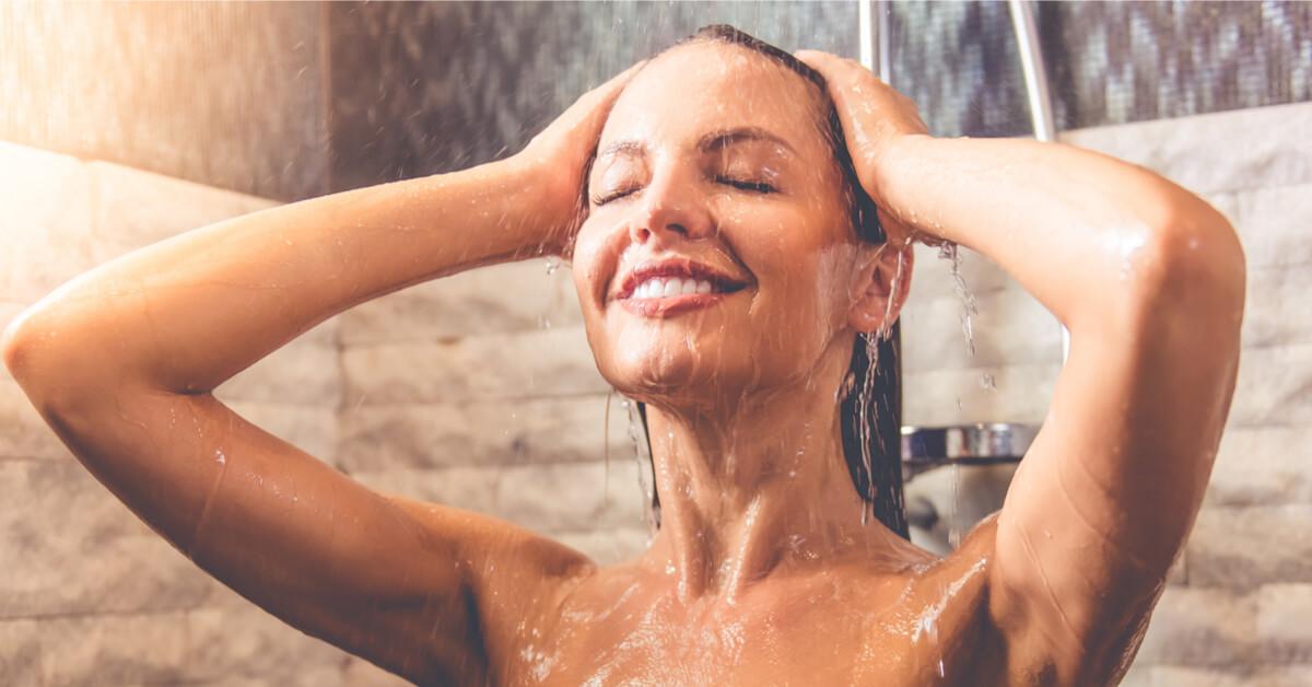 sous la douche