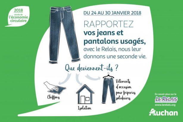 jeans usagés, Auchan