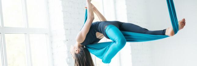 Le yoga aérien: une activité ludique et dynamique dans les airs