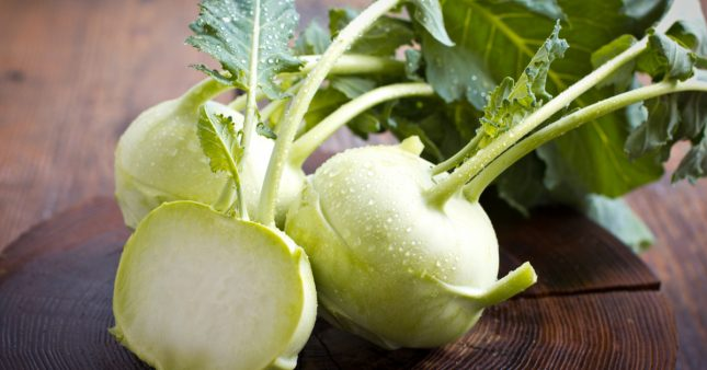 Les légumes oubliés: le chou-rave une saveur fraiche et douce