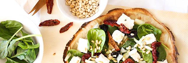 Recette de la pizza croustillante au quinoa