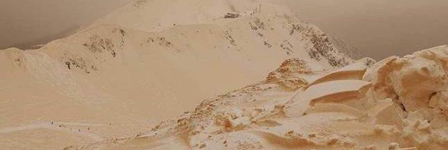 Insolite: de la neige orange surprend l'Europe de l'Est