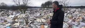 Invraisemblable: une véritable mer de déchets en banlieue parisienne