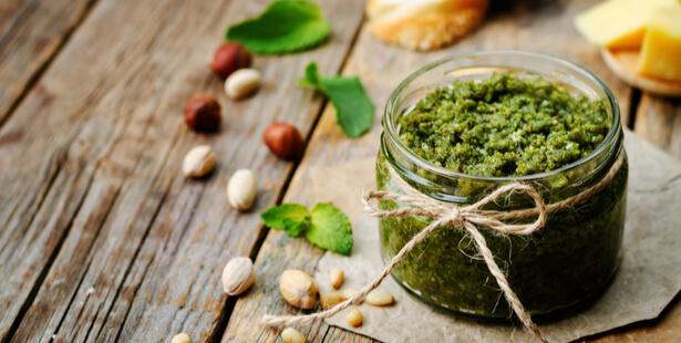 pesto pistache menthe