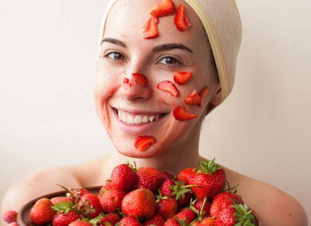 soins peau fraise