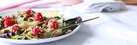 Recette salade de quinoa pistaches et framboises