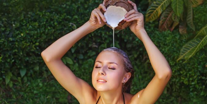 lait de coco cheveux