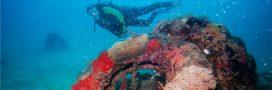 Des centaines de pneus repêchés dans la baie du Golfe-Juan