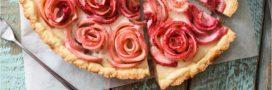 La tarte aux pommes roses